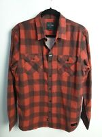 Globe Men's Long Sleeve Red Check Shirt Size M