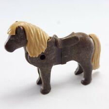 1396 Playmobil Poney Marron Foncé