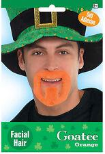 St Patricks Day Orange Goatee Beard Irish Dress up Fancy Dress costume accessory