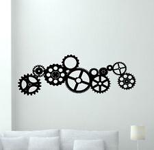 Gears Wall Decal Cogwheel Cogs Wheels Vinyl Sticker Garage Decor Poster 57thn