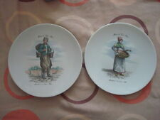 2 X Limoges France Decorative Plates Man & Woman in traditional costume