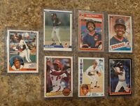 (7) Julio Franco 1983 Topps Donruss Fleer Rookie + 1984 1985 Card Lot RC Indians