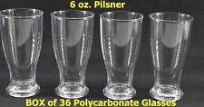 6 oz Unbreakable Pilsner Beer Glasses Premium Set of 36, for Tasting, Catering