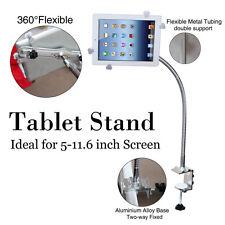 360º Lazy Bed Gooseneck Desk Mount Stand Holder For iPad Samsung Tablet 100mm
