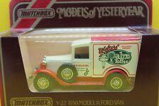 Matchbox Models of Yesteryear Y22 1930 Ford Model 'a' Van-walkers Palm Toffee