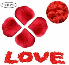 1000Pcs Red Fake Silk Rose Petals Leaves Wedding Flower Party Wedding Decor Usa