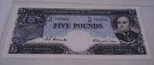1954 Coombs-Wilson Australian Five Pounds Banknote Uncirculated / TA 85 - £5 Unc