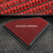 FOR 06-13 BMW E90 3-SERIES RED REUSABLE&WASHABLE HIGH FLOW DROP IN AIR FILTER