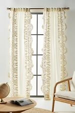 New Anthropologie Embroidered Dedhia Curtain 50 x 96""