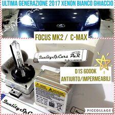2 Lampadine XENON D1S FORD FOCUS mk2 C-MAX fari BIXENON HID 6000K RICAMBIO Luci