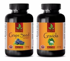 Metabolism enzyme - GRAVIOLA – GRAPE SEED EXTRACT COMBO 2B - graviola leaves