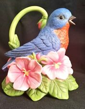 Lenox Summer Greeting Creamer Blue Bird Catherine McClung Porcelain Flower