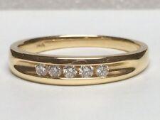 Gents 14kt yellow gold channel set wedding ring (OG382)