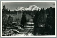 RPPC Postcard Mt Shasta CA snow covered mountain California Eastman's Studio