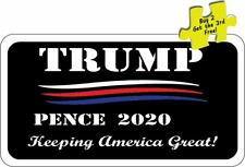 """Trump Pence Keeping America Great! 2020 Decal Sticker 3.25"""" x 6.00"""" p234"""