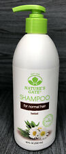 Nature's Gate SHAMPOO for Normal Hair HERBAL 18oz DISCONTINUED Paraben Free