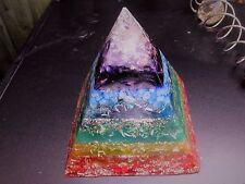 Orgone XXL chakra/Quarzo Piramide potente generatore di energia