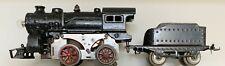 Vintage Ives cast-iron #1118 0-4-0 (1917-25) electric steam locomotive & tender
