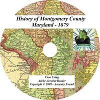 1879 History Genealogy of Montgomery County Maryland MD