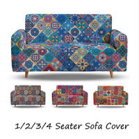 Retro 1/2/3/4 Spandex Sofa Covers 4 Seater Set Couch Cover Slipcovers Protector