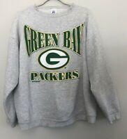 Vintage 90s Green Bay Packers Gray Crewneck Sweatshirt Size XL