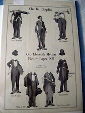 "Very Rare ""Charlie Chaplin"" Paper Dolls From ""The Ladies World"" Magazine *"