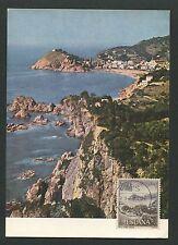 Spain Mk 1964 costa brava tossa del mar Carte maximum card mc cm d3960