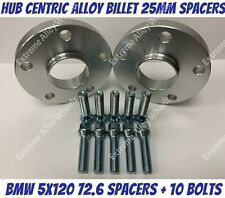 Alloy Wheel Spacers 25mm Bmw X3 X4 F25 F26 M14X1.25 Extended Bolts 5x120 72-6