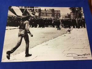 DON LETTS-DREAD MEETS THE COPPERS UPTOWN 1976-SIGNED-ICONIC PICTURE