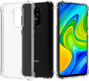 For Xiaomi Redmi Note 9 Case Slim Crystal Clear Gel Hybrid Cover Shockproof