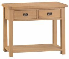 HEREFORD MODERN OAK CONSOLE TABLE / HALLWAY UNIT / TELEPHONE STAND