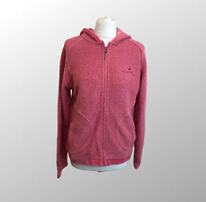 Weird Fish Pink Macaroni Zip Up Hooded Jumper Embroidered Sz M