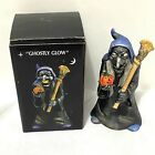 Ghostly Glow Witch Halloween Vintage Votive Candle Holder with box made Taiwan