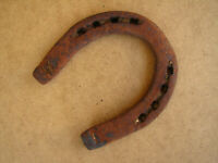 Old Antique Primitive Ottoman Era Hand Wrought Horseshoe Farmouse Ranch 19th
