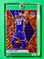 Lebron James RARE ORANGE REACTIVE PRIZM MOSAIC REFRACTOR INVESTMENT CARD - Mint!