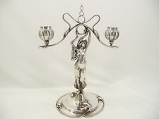 Figural Candlestick by Victor Silver Co.