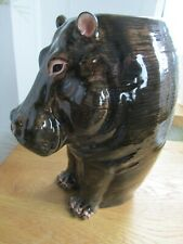 More details for fabulous quail pottery hippo large flower vase boxed ideal gift boxed