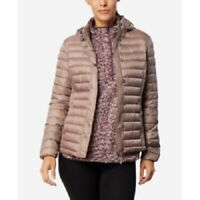32 Degrees Women's Packable Hooded Down Puffer Coat, Beige, Size S, $100, NwT