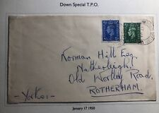 1950 Down Special England Cover Traveling Post Office To Rotterdam Netherlands
