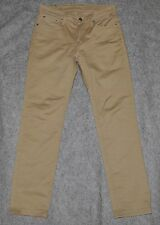 LEVI'S 511 COMMUTER SLIM FIT STRAIGHT JEAN Stretch Khaki Tan Twill 30 x 30 Jean