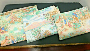Beatrix Potter Sewing Material Peter Rabbit~ 3 separate yards at 1 1/2 yds each