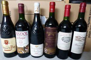 6 Flaschen Rotwein Frankreich 1983 - 2003 : Bordeaux , Chateauneuf du Pape ..