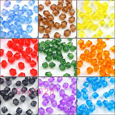4mm,6mm Bicone Faceted Acrylic Spacer Beads 13Colors-1 Or Mixed R5123