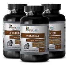 Chlorophyll powder - ANTI GRAY HAIR FORMULA - stop gray hair growth - 3 Bottles