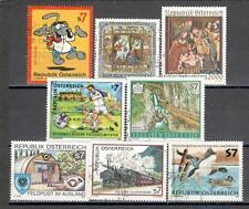 R5036 - AUSTRIA 2001 - SERIE COMPLETA 8 TEMATICHE - VEDI FOTO