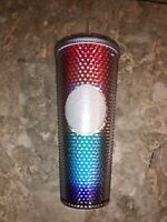 Starbucks Pride 2020 Limited Edition Studded Rainbow Cold Cup Tumbler 24 OZ NEW