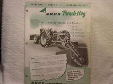 ARPS TRENCH-HOG  c 1959 sales brochure