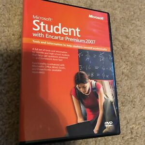 Microsoft Student With Encarta Premium 2007 - Product Key Not Needed - Good Cond