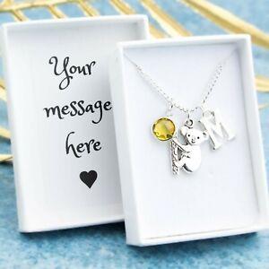 Koala Necklace, Personalised Jewellery, Australia Animal Gifts, Bear Charm