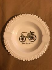 Vintage The Harker Pottery Co Ashtray Duryea's Motor Wagon 1895